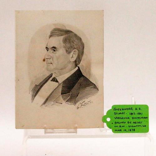 1878 Staunton, VA Pencil and Ink Darwing ($392.00)