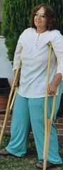 Polio Baggy Pants (jackcast2015) Tags: handicapped disabledwoman crippledwoman wheelchair paralysed poliogirl legbraces calipers