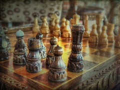 Change of Rules? (clarkcg photography) Tags: 7dosfunandgamesfocusfriday game chess setup layout board queen