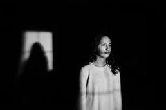 Portrait of my girl. (lebramlett721) Tags: nikon d750 blackandwhite lensbaby sol45 seeinanewway portrait teenager girl lightandshadow