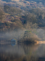 Boathouse on Rydal Water (tonybassplayer) Tags: rydalwater lake district boathouse boat house cumbria mist