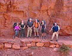 Rock Wall on North Kaibab Trail (knutsonrick) Tags: