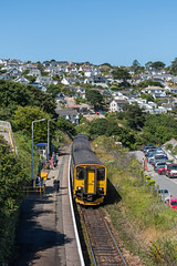 150244+150202, Carbis Bay station (Hope Trains) Tags: gwr 150244 150202 cornwall stivesbranchline carbisbay
