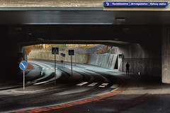 Ilmala Railway Station (1) (pni) Tags: concrete underpass sign pavement bridge human people dog animal person being homunculi trafficsign ilmala helsinki helsingfors finland suomi pekkanikrus skrubu pni