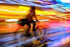 City pulse #7 (Birdhouse camper) Tags: copenhagen denmark fujifilm fuji xt2 fujixt2 color blur bicycle light lightstream street