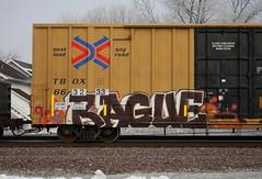 Rague (quiet-silence) Tags: graffiti graff freight fr8 train railroad railcar art rague h2o ttx tbox boxcar tbox663233