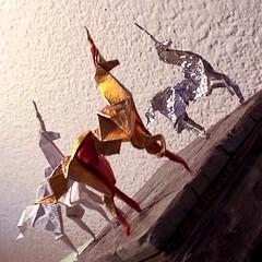 Origami Unicorn Trios I (hinxlinx) Tags: origami paperart paperanimal papercreatures papercreature origamicreature papercrafts origamiart origamianimal origamiunicorn unicorn paperunicorn bladerunnerorigamiunicorn bladerunnerorigami gaffunicorn fantasycreature hinxlinx ericlynxlin elynx atlantix軒 picofinstagram