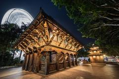 Brisbane - Nepal Peace Pagoda (Rafael Zenon Wagner) Tags: pagode nacht riesenrad baum autralien nikon d810 laowa12mmf28zerod pagoda night ferriswheel tree autralia uwa ultraweitwinkel
