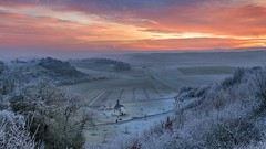 *the chapel in the valley* (Albert Wirtz @ Landscape and Nature Photography) Tags: fintenkapelle albertwirtz dawn morgendämmerung goldenhour bluehour goldenestunde blauestunde tree forest wald raureif hoarfrost frost frozen nature natur natura landscape paesaggi paysage campo campagne campagna moseleifel eifelmosel rheinlandpfalz germany deutschland allemagne rhinelandpalatinate winterzauber wintermagic twilight eifel südeifel southerneifel fintenchapel chapel kapelle wittlicherland wittlichland wittlichersenke wittlichvalley clouds morningsky morgenhimmel paisaje eifelsteig eifeltrail wandern hiking grauverlauffilter haidagnd09softfilter morgenrot