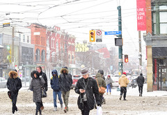 Queen and Spadina (mrsparr) Tags: theflickrlounge saturdaytheme toronto snow winter people 52in2019 98