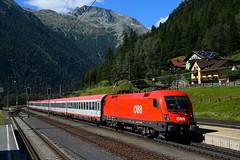 1116 104, EC 113 ( Frankfurt am Main > Klagenfurt/Zagreb ). Mallnitz-Obervellach (M. Kolenig) Tags: 1116 eurocity berg wald baum tauernbahn