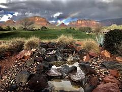 Rainbow on the Red Rocks 2 (PhotosByBeverly) Tags: sedona villageofoakcreek arizona redrocks