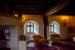 Living Room From Bran Castle, Transylvania, Romania (OLF Picture) Tags: livingroom brancastle draculacastle transylvania transylvaniacastle dracula romania interior room home hotel furniture house architecture design bedroom sofa living bed luxury window apartment wall floor table decor classic lamp wood chair door