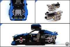 80's Supercar details - Miniland scale - Lego (Sir.Manperson) Tags: lego moc 80s retro ldd render miniland