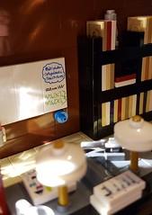 The Cloud - a pre-school MOC [WIP]. Desks and book shelf. (betweenbrickwalls) Tags: lego afol moc legofurniture furniture furnituredesign design interiordesign
