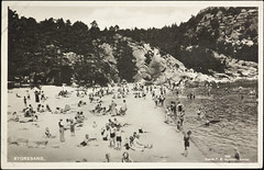 Postkort fra Agder (Avtrykket) Tags: strand badende postkort sommer strandliv grimstad austagder norway nor