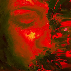 red oil painting (brittanyzamo) Tags: oilpainting painting oil mixed media fluid abstract red originalart original artwork realism surrealism impressionism