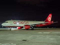 Air Berlin D-ABHA HAJ at Night (U. Heinze) Tags: aircraft airlines airways airplane flugzeug planespotting plane haj hannoverlangenhagenairporthaj eddv olympus 1240mm night