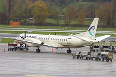 S5-AFG   Adria Airways   Saab 2000   CN 15   Built 1995   ZRH/LSZH 13/11/2018   ex HB-IZJ (Mick Planespotter) Tags: aircraft airport 2018 nik sharpenerpro3 s5afg adria airways saab 2000 15 1995 zrh lszh 13112018 hbizj kloten zurich prop turboprop