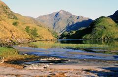 Lochan nam Breac (Julian Hodgson) Tags: lochannambreac luinnebhein knoydart scotland highlands loch mountains walking camping backpacking nikonfm kodachrome64 film transparency