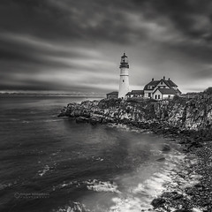Portland Head Light Lighthouse (Dragan Milovanovic photography) Tags: lighthouse portland maine usa atlanticocean sky scenery sea water waterscape landscapes autumn blackandwhite beach sunset clouds nature waves fall travel mood sonyilca99m2 sonyalphaa99ii draganmilovanovicphotography
