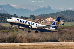 Ryanair B737-8AS EI-FZF (José M. Deza) Tags: b7378as boeing eifzf gro gironacostabrava planespotting ryanair spotter aircraft