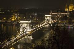 Lánc híd (Csongrádi Ádám) Tags: hungary budapest duna danube bridge river night nightshoot landscape