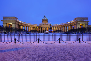 Christmas. Kazan Cathedral.