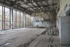 Lazurny (Sean M Richardson) Tags: abandoned gymnasium soviet chernobyl exclusion zone ukraine lazurny canon photography explore urbex travel decay details texture fall autumn