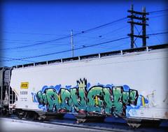 (timetomakethepasta) Tags: advek freight train graffiti art utcx grainer hopper