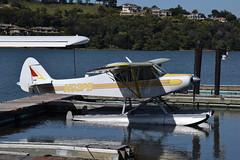 N93PB Piper PA-18A Super Cub (eigjb) Tags: n93pb piper pa18a cub super pa18 floatplane light aircraft airplane plane spotting aviation amphibian mill valley california usa 2018