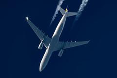 Lufthansa Airbus A330-343 D-AIKG (Thames Air) Tags: lufthansa airbus a330343 daikg contrail telescope dobsonian contrails overhead vapour trail