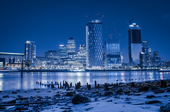 Canary Wharf London Docklands (junk@baldybiker.co.uk) Tags: ifttt 500px nikon long exposure night photography river water thames