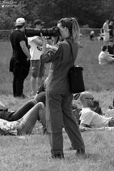 Vanessa (Laurent Quérité) Tags: canonfrance canoneos7d canonef100400mmf4556lisusm blackwhite noirblanc portrait femme woman patrullaaspa ala78 spanishairforce ba106 merignac lfbd france