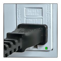 Ground-Fault Circuit Interrupter (Timothy Valentine) Tags: 2018 plug greenlight macromonday 1218 electricity home safety eastbridgewater massachusetts unitedstates us h258 w258