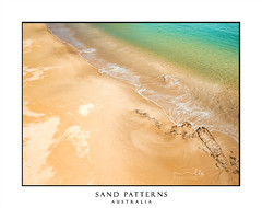 Beautiful Australian beach aerial view (sugarbellaleah) Tags: sand beach patterns tidal flow turquoise water sandy seaside seashore waves tide pretty abstract vacation background copyspace aerial above view perspective crystalclear ocean seascape sea texture australia