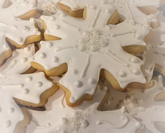 Snowflake Sugar Cookie............ (Maredx) Tags: christmassweets food delicious frosted cookie cookies close up macro sweet lookingcloseonfriday sugar