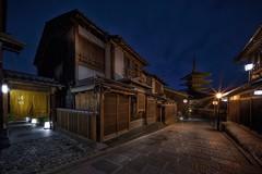 Pagoda way (karinavera) Tags: city longexposure night photography cityscape urban ilcea7m2 way japan street nopeople gion kyoto pagoda