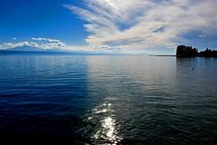 Le ciel et le lac (Diegojack) Tags: vaud suisse saintsulpice paysages d500 nikon nikonpassion ciel nuages brillance eau lac léman calme groupenuagesetciel