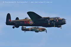 8997 BBMF Lancaster Hurricane PZ865 (photozone72) Tags: bbmf rafbbmf eastbourne airshows aircraft airshow aviation wwii warbirds raf lancaster avro hurricane pz865 canon canon7dmk2 canon100400f4556lii 7dmk2