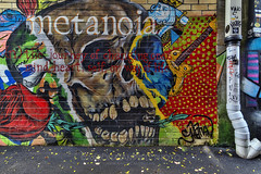 Metanoia, 2018.11.06 (Aaron Glenn Campbell) Tags: gritty textures shaneberg graffiti wallart murals creatives creativity knoxville downtown armstrongalley marketsquare tn tennessee 3xp hdr ±2ev macphun skylum aurorahdr nikcollection colorefexpro sony a6000 ilce6000 mirrorless rokinon 12mmf2ncscs wideangle primelens manualfocus emount