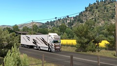 Kristiansen Transport (Cyberrior Paintjobs) Tags: scadinavia screenshot eurotrucksimulator euro ets2mp ets2 game paintjobs games custom company cyberrior