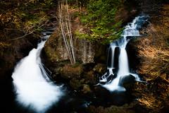 Twin falls (kat-taka) Tags: fall river nature water