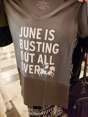 June Is Busting Out All Over (Joe Shlabotnik) Tags: broadway carousel newyorkcity cameraphone nyc manhattan tshirt imperial theater galaxys9 august2018 2018