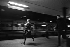 Come on! It's our train (Bjarne Erick) Tags: trainstation running late catching train platform