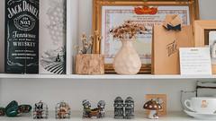 Cafe shelf (billcoo) Tags: dalat coffee fuji xf1855mm fujinon travel shop xt2