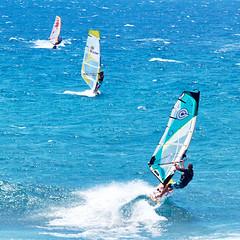 Wind Surfers, Hawaii (szeke) Tags: canon7d canon100400is hawaii maui hookipabeach 2011