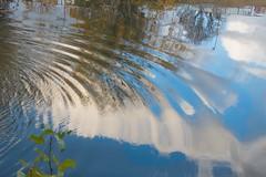 Ondulations (Corinne Queme) Tags: eau rivière marne reflet ondulations automne maisonsalfort france arbres ciel bleu