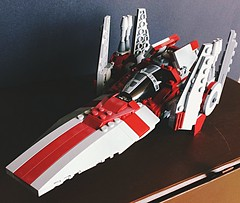 Modified V-wing Starfighter (TheHighGround2187) Tags: star wars lego starwars starwarslego legostarwars minifigures jedi last awakens force han rey poe finn luke leia skywalker solo organa movies kenobi obiwan yoda blasters red helmets galaxy space rebels rebellion ghost crew team family mandalorian