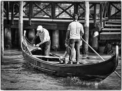 Grand Canal Transportation (FotoFling Scotland) Tags: boat canal flickr gondola gondolier men venice water